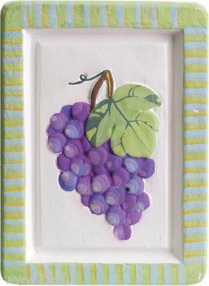 Как сделать виноградную гроздь из гипса