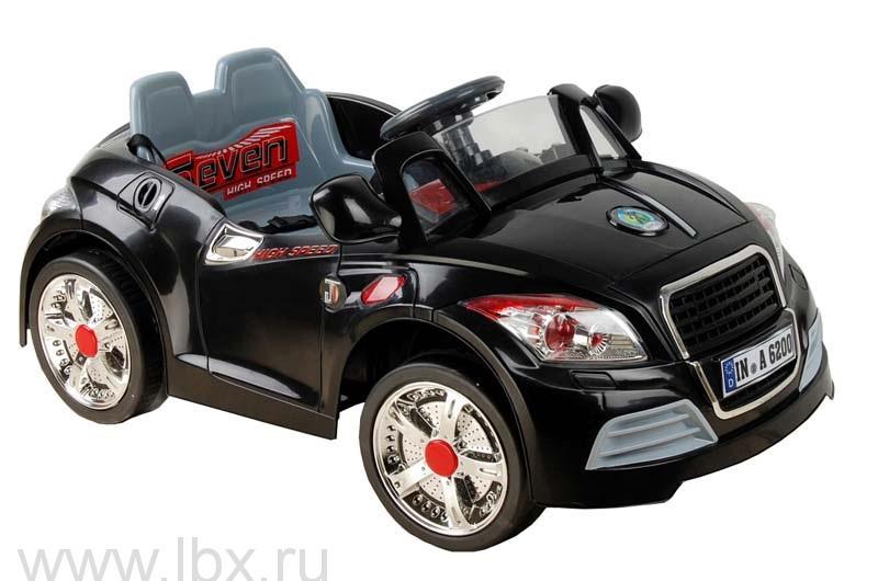 Детский электромобиль NeoTrike Cabrio A Extra Power (Неотрайк Кабрио) черный с пультом радиоуправления