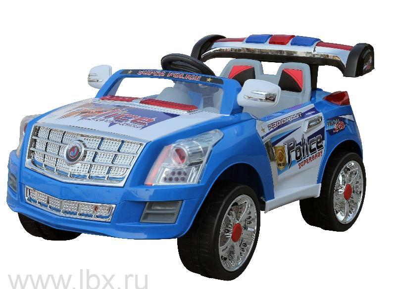 Детский электромобиль NeoTrike Police Car Extra Power (Неотрайк Полис) синий