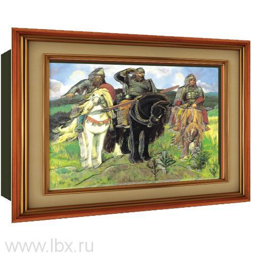 Объемный постер `Три Богатыря` от Vizzle (Виззл)