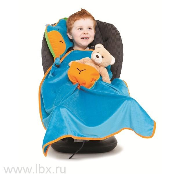 Подушка с пледом, голубая отTrunki (Транки)