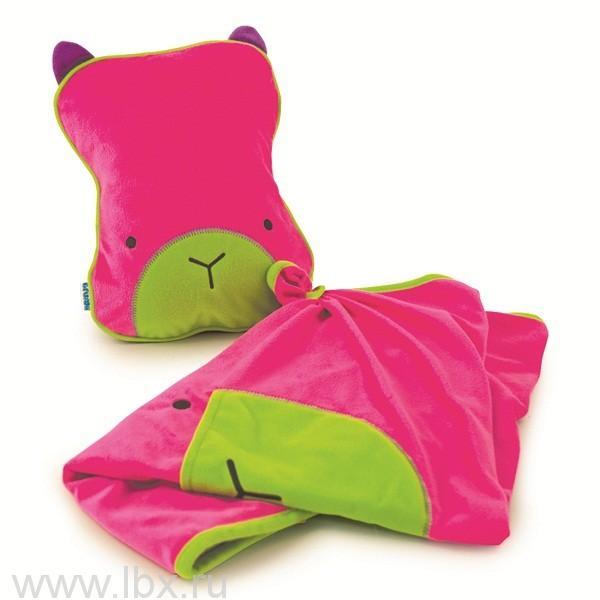 Подушка с пледом, розовая от Trunki (Транки)