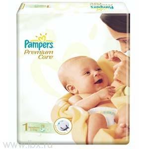 Подгузники Pampers 2-5 кг (Памперс) Premium Jumbo NewBorn