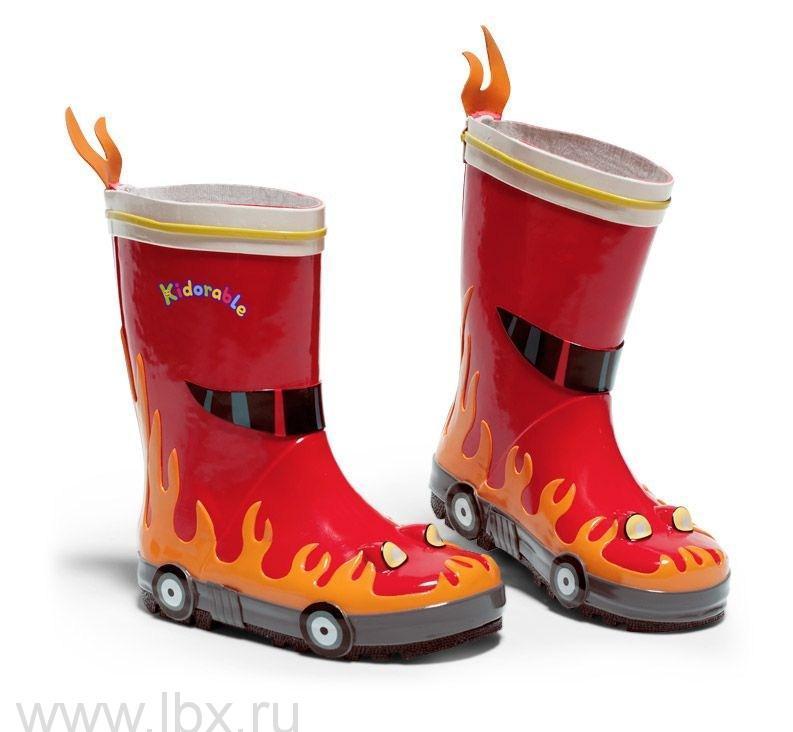 Сапоги резиновые детские `Пожарный`, Kidorable (Кидорабл)