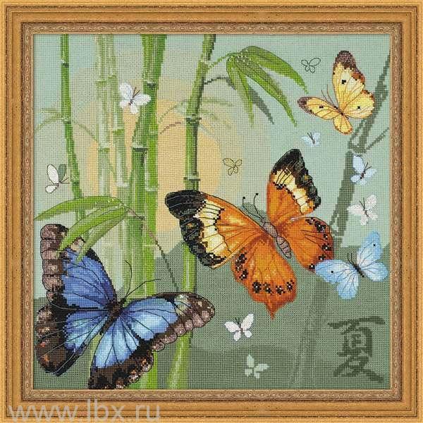 Набор для вышивки крестом `Бабочки`, Riolis (Риолис)