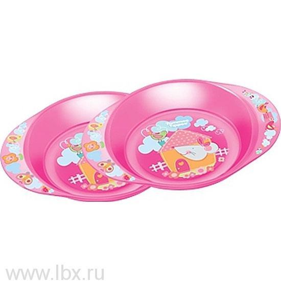 Тарелочки декорированные, розовый, Tommee Tippee (Томми Типпи)