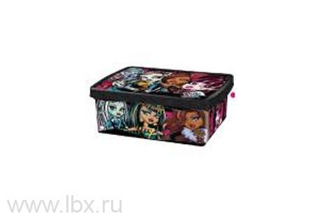 Коробка для хранения, 6 л, Monster High (Монстер хай)