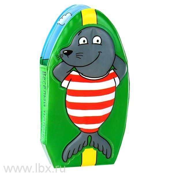 Книжка-пищалка для купания `Веселый тюлень`, Мозаика-Синтез