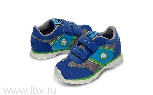 Кроссовки (Retro Sprint Sneaker) Ретро Спринт Сникер Кидс Лайт Грей/Си Блю, Crocs (Крокс)