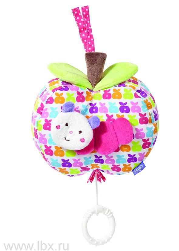 Музыкальная подвеска Яблочко (розовое)`Счастье`, BabyFehn (БэйбиФэн)
