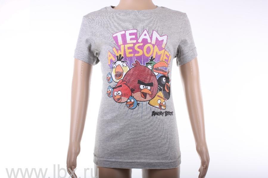 Футболка для девочки `Team new`, Angry Birds