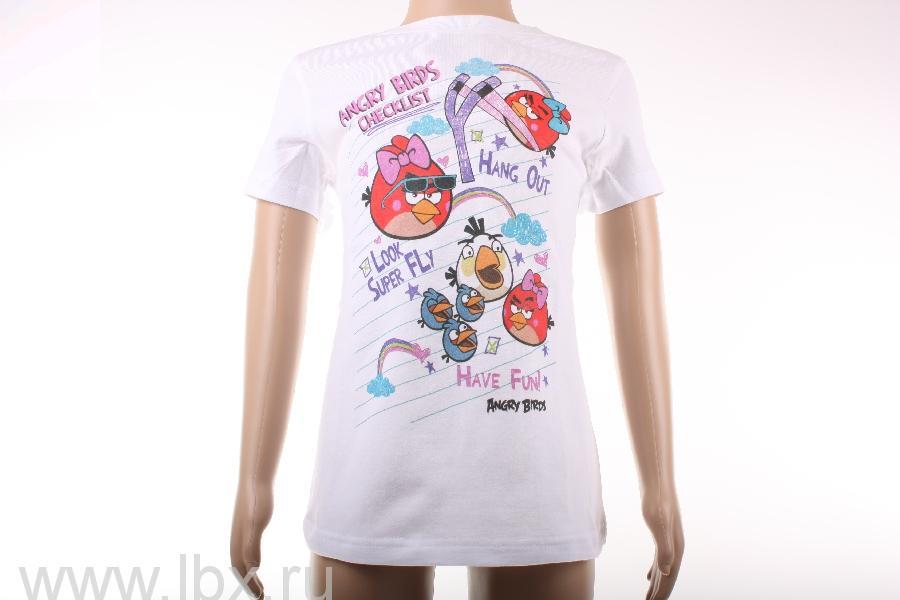 Футболка для девочки `Super fly`, Angry Birds- увеличить фото