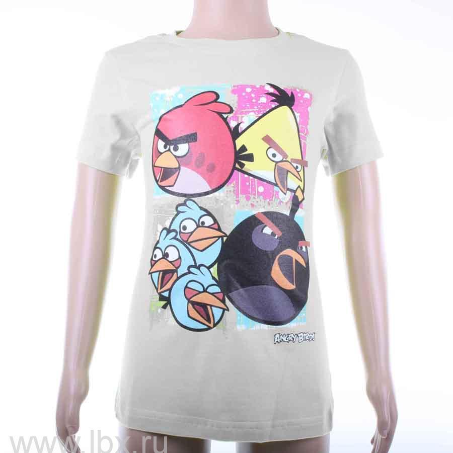Футболка для девочки `Quartet`, Angry Birds
