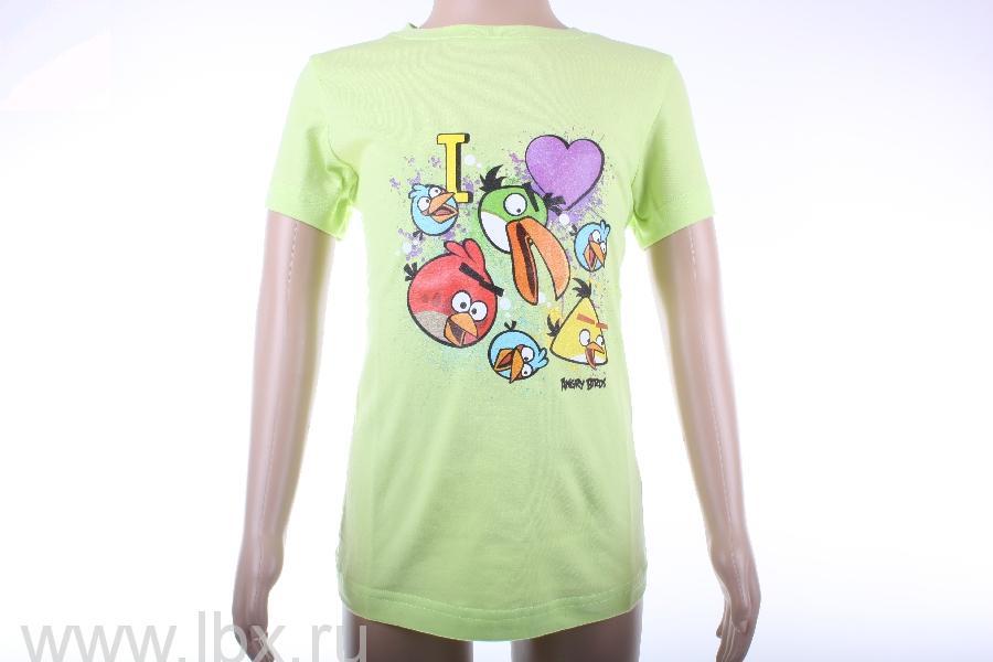 Футболка для девочки `Love ab`, Angry Birds