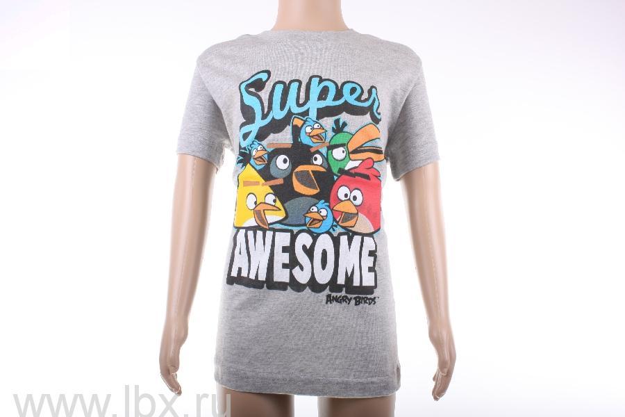 Футболка для мальчика `Super Awesome`, Angry Birds