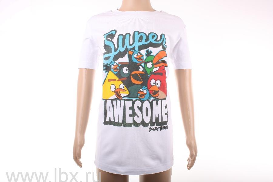 Футболка для мальчика `Super Awesome`, Angry Birds- увеличить фото