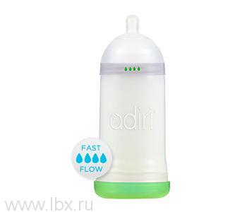 Детская бутылочка Adiri (Адири) NxGen Fast Flow White, от 9 мес., 281 мл.