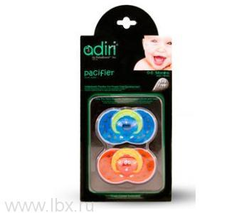Пустышка Adiri (Адири) Heart Pacifiers (2 шт) blue and orange