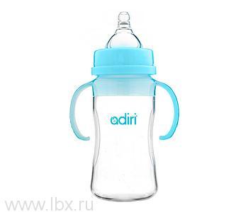 Детская бутылочка Adiri (Адири) Transitional Nurser Blue, 270 мл.