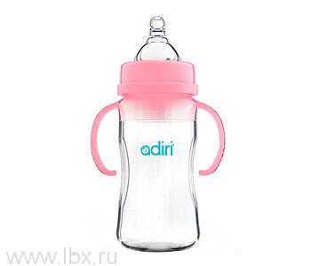 Детская бутылочка Adiri (Адири) Transitional Nurser Pink, 270 мл.
