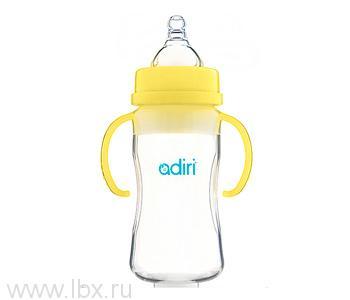 Детская бутылочка Adiri (Адири) Transitional Nurser Yellow, 270 мл.