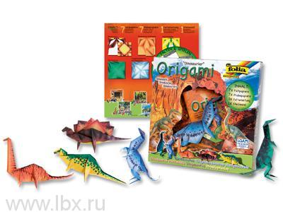 Набор оригами `Динозавры` Апплика от Мозаика-Синтез