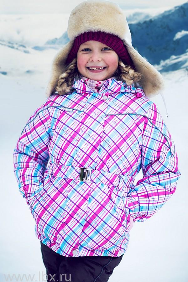 Куртка `Алина`, цвет розовый-голубой, Oldos (Олдос)- увеличить фото