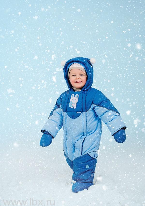 Комбинезон `Мамина зайка`, цвет серо-голубой - голубой, Oldos (Олдос)- увеличить фото