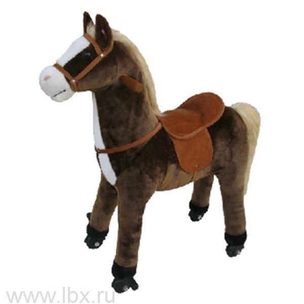 Поницикл (PonyCycle) Коричневая лошадка средняя, озвучена