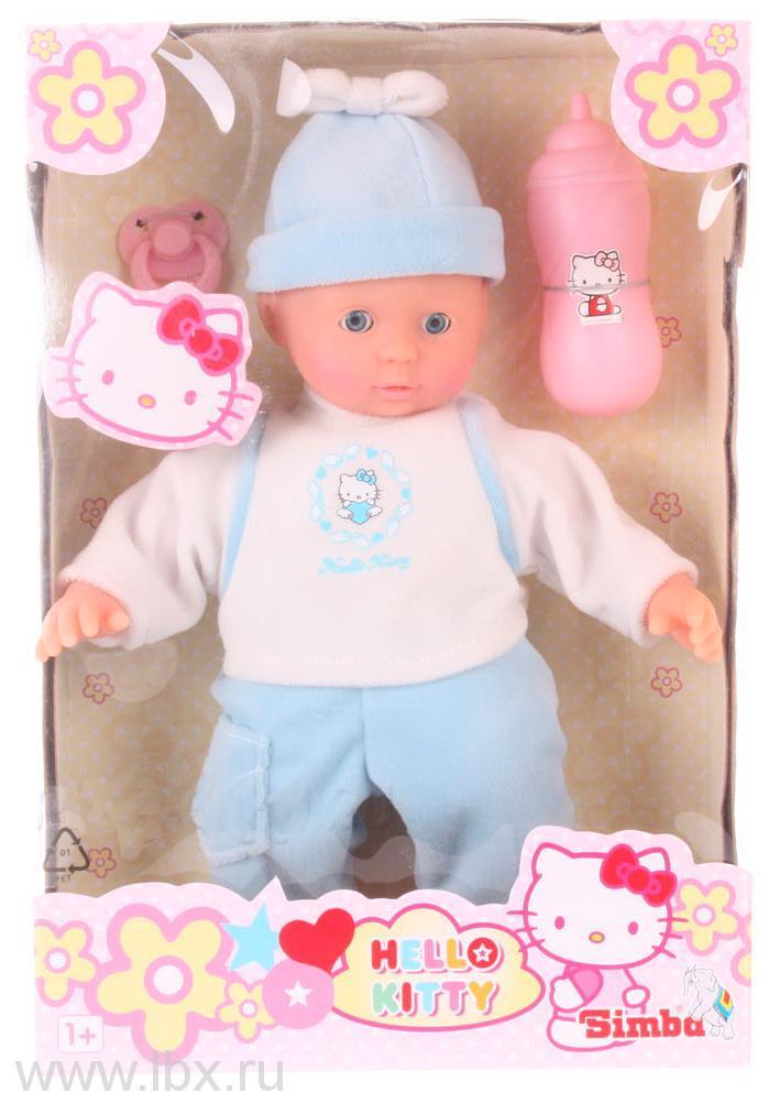 Пупс Hello Kitty в голубом костюме, Simba (Симба)