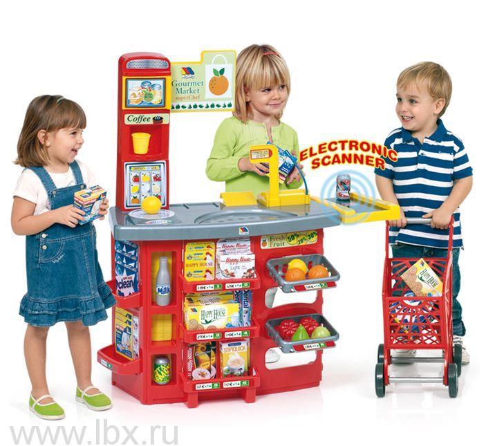Игровой супермаркет с тележкой(17 предметов), Molto (Молто)