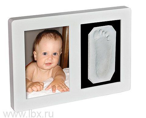 Рамочка «Лайт» одинарная универсальная со стеклом Белая, Ручки&Ножки