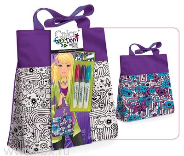 Набор для росписи по ткани `Лиловая сумочка`, STYLE ME UP (Стайл ми ап)