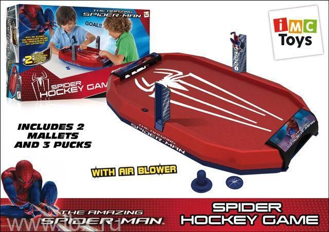 Аэрохоккей `Spider Man` (Человек - Паук), IMC Toys (АйЭмСи Тойс)