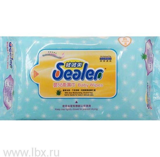 Салфетки Sealer Baby wipes 80 шт, Sealer Baby (Силер Бейби)