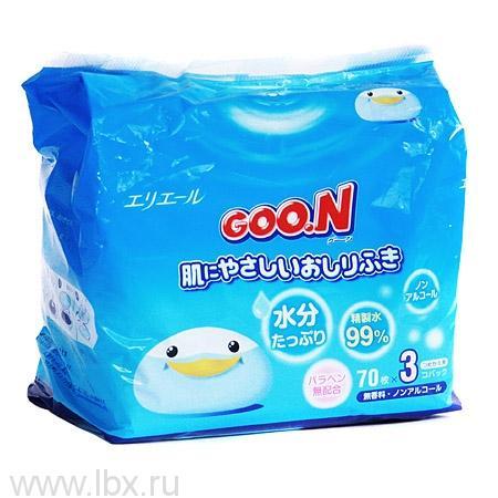 Детские влажные салфетки Goo.N (Гу Н)