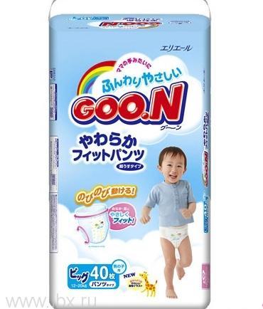 Трусики - подгузники для мальчиков Goo.N 12-20кг (Гу Н)