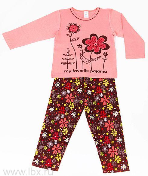 Пижама для девочки `Цветочек`, Модамини