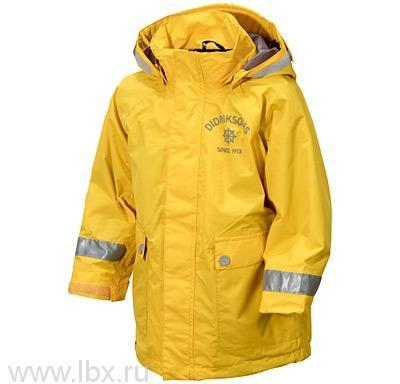 Куртка для детей Eiger Kids Printed, Didriksons 1913 (Дидриксонс 1913), цвет банановый