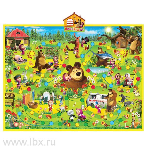 Интерактивный обучающий плакат `Азбука Маши` серии `Маша и Медведь`, Умка
