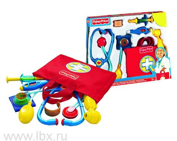 Игровой набор `Аптечка маленького доктора`, Fisher-Price (Фишер-Прайс)