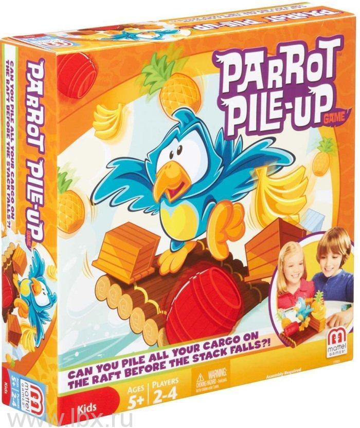 Настольная игра `Попугай на плоту`, Mattel (Маттел)