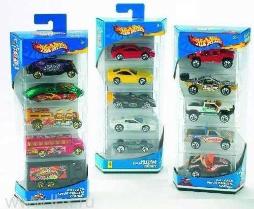 Подарочный набор из 5 машинок Hot Wheels, Mattel (Маттел)