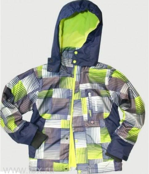 Куртка для мальчика, Crockid (Крокид), светло-серый/салатовый