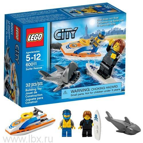 Спасение сёрфингиста Lego City (Лего Город)