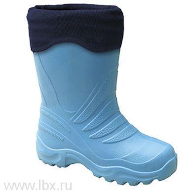 Cапожки резиновые EVA с утеплителем, Lemigo (Лемиго) голубые