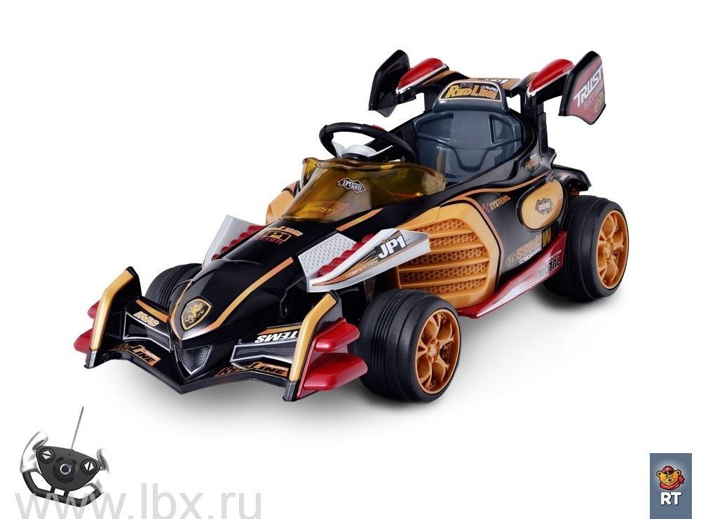 Электромобиль на 4-х колесах Sport kart Formula F1 черный, RT(РТ) с пультом ДУ