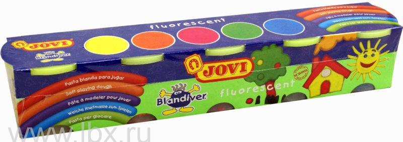 Мягкая игровая паста для моделирования флюоресцентная Jovi (Джови)