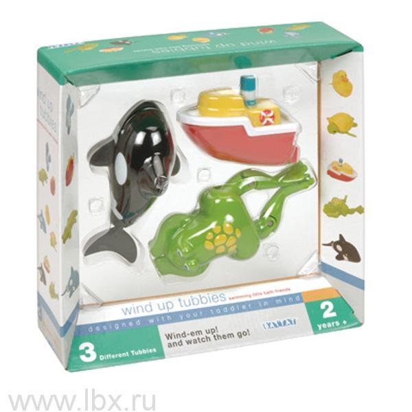 Заводные игрушки для ванны `Лягушка, кит, лодка`, Battat (Баттат)