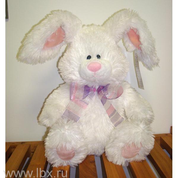 Кролик K93558B с бантиком белый, Plush Apple (Плюш Эппл)